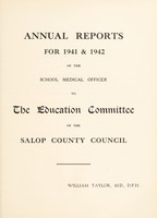 view [Report 1941-1942] / School Medical Officer of Health, Salop / Shropshire County Council.