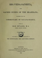 view Rig-Veda-Sanhita : the sacred hymns of the Brahmans together with the commentary of Sayanacharya
