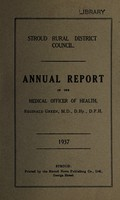 view [Report 1937] / Medical Officer of Health, Stroud (Union) R.D.C.