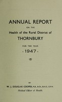 view [Report 1947] / Medical Officer of Health, Thornbury R.D.C.