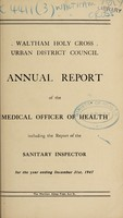 view [Report 1947] / Medical Officer of Health, Waltham Holy Cross U.D.C.