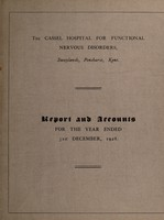 view Report and accounts for the year ended 31st December, 1928 / The Cassel Hospital for Functional Nervous Disorders.