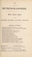 view Tenth annual report on the County Pauper Lunatic Asylum