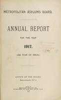 view Annual report for the year 1917 : (20th year of issue) / Metropolitan Asylums Board.