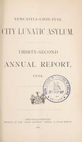 view Thirty-second annual report, 1896 / Newcastle-upon-Tyne City Lunatic Asylum.