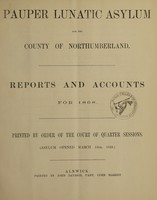 view Reports and accounts for 1868 : printed by order of the Court of Quarter Sessions (Asylum opened March 16th, 1859)
