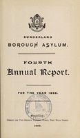 view Fourth annual report : for the year 1898 / Sunderland Borough Asylum.