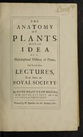 view The anatomy of plants