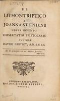 view De lithontriptico a Joanna Stephens nuper invento dissertatio epistolaris / [David Hartley].
