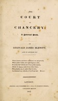 view The Court of Chancery: a satirical poem