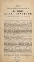 view Essay on the virtues and efficacy of Dr. Sibly's lunar tincture, in all diseases peculiar to the female sex / [E. Sibly].