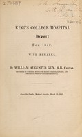 view King's College Hospital : report for 1842