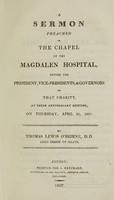 view A sermon preached in the chapel of the Magdalen Hospital ... on ... April 23, 1807