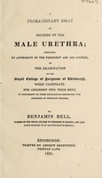 view A probationary essay on injuries of the male urethra