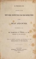 view Address delivered at the New-York Institution for the Instruction of the Deaf and Dumb, December 2d, 1846