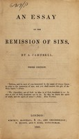 view An essay on the remission of sins