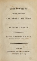view Observations on the effects of variolous infection on pregnant women