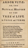 view Arbor vitae, or, The natural history of the tree of life : in prose and verse.