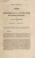 view Cours sur l'histoire et la littérature des sciences médicales / par le Docteur Ch. Daremberg.