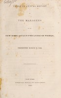 view Twelfth annual report of the managers of the New-York Asylum for Lying-in Women : presented March 12, 1835.