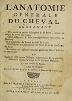 view L'anatomie générale du cheval ... / Traduit ... par F.A. de Garsault.