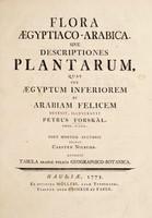 view Flora Ægyptiaco-Arabica, sive descriptiones plantarum