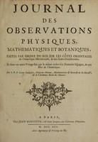view Journal des observations physiques, mathematiques et botaniques, faites par l'ordre du roy sur les Côtes orientales de l'Amerique méridionale, et dans les In de occidentales, depuis l'année 1707 jusques en 1712