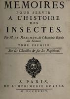 view Mémoires pour servir à l'histoire des insectes / [René-Antoine Ferchault de Réaumur].