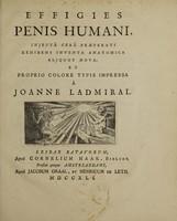 view Effigies penis humani, injectâ cerâ praeparati exhibens inventa anatomica aliquot nova