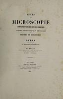 view Cours de microscopie complémentaire des études médicales ... / par Al. Donné.