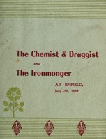 view The chemist & druggist and The ironmonger at Enfield, July 7th, 1899 / [A.C. Wootton].
