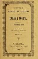 view Método preservativo y curativo del cólera mórbo