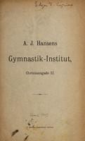 view A. J. Hansens Gymnastik-Institut, Christiangade 57.