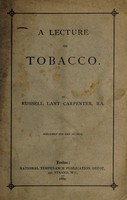 view A lecture on tobacco