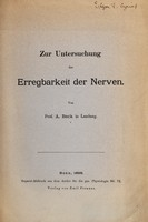 view Zur Untersuchung der Erregbarkeit der Nerven / von A. Beck.