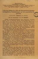 view Ueber den Einfluss der durch die Stimmgabelschwingungen herbeigeführten Erschütterungen auf den menschlichen Organismus / von W. von Bechterew.