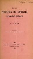 view De la précision des méthodes d'éducation physique / par M. Demeny.