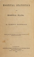 view Hospital statistics and hospital plans / by Florence Nightingale.