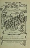 view Popular herbal remedies : a handbook / [Potter & Clarke, Ltd].