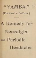 "view ""Yamba"" : a remedy for neuralgia and periodic headache."