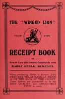 """view The """"Winged Lion"""" receipt book, or, How to cure all common complaints with simple herbal remedies..."""