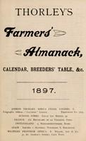 view Thorley's farmer's almanack, calendar, breeders' table, &c. 1897 / Joseph Thorley.