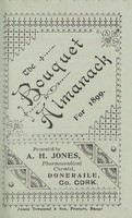 view The bouquet almanack for 1899 / presented by A.H. Jones, pharmaceutical chemist.
