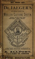 view Dr. Jaeger's sanitary woollen clothing system : net price list