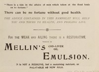 view Mellin's cod liver oil emulsion for coughs, colds and lung diseases / [Mellins Food Limited].