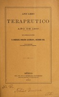 view Anuario terapéutico : año de 1899