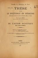 view De l'action diurétique du calomel / Gustave Bezou.