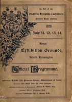 view The Silver Fête programme : the only authorised book giving the whole list of entertainment, shows, and all particulars, with costumes and dresses of the ladies assisting / [Victoria Hospital for Children].