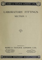 view Laboratory fittings : section 1 / Baird & Tatlock (London) Ltd.