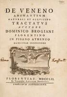 view De veneno animantium naturali et acquisito tractatus / [Domenico Brogiani].